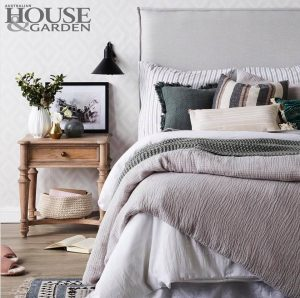 pillar bedhead as featured on Australian house and garden