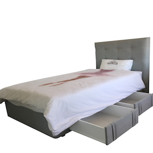 Kids bed base with storage