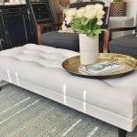 custom made ,upholstered stylish Footstool