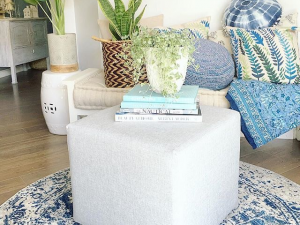 square upholstered Ottoman