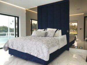custom made panaled bedhead