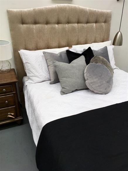 custom made upholstered bedhead