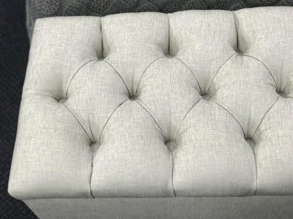 upholstered tufted blanket /shoe box