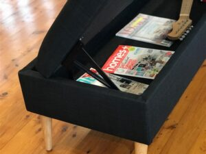 upholstered storage footstool