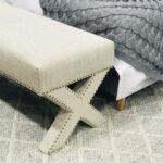 Cross legs footstool