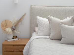 pillay bedhead in Boucle Fabric