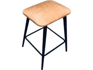 Leather modern look bar stool